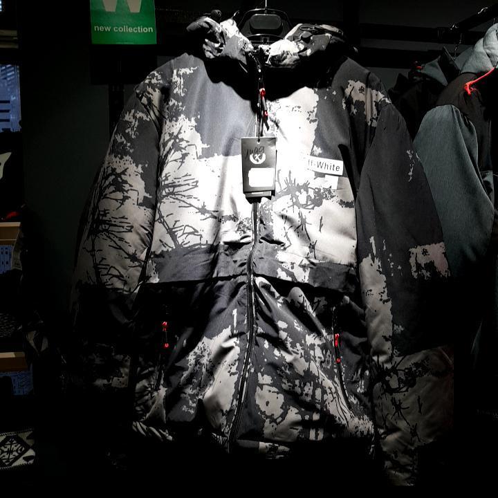 Куртки Зима бренд Off-White Мужской Чорний-пісочний 70% коттон 28% полиэстер 2% еластан арт.55325 3-XL(р)