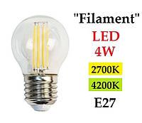 Світлодіодна лампа Filament Feron LB-61 4W G45 E27, фото 1