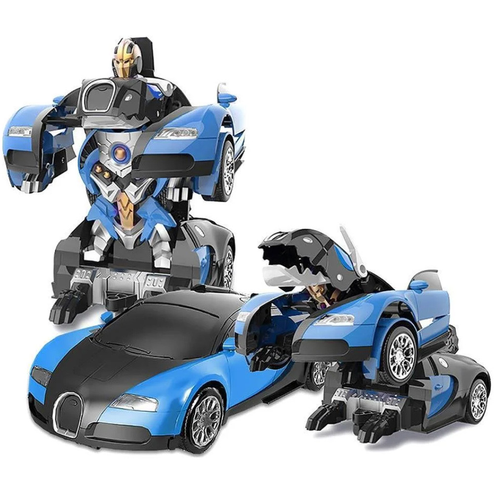 Авто-Трансформер Робот Bugatti Veyron, радиоуправляемая игрушка, машинка на пульте, АКБ, Акция!