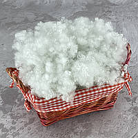 Холлофайбер 2 кг универсальный наполнитель для одеял, подушек, мягких игрушек (шарики) белый T-55109
