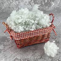 Холлофайбер 3 кг универсальный наполнитель для одеял, подушек, мягких игрушек (шарики) белый T-55110