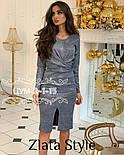 """Нарядное платье миди с люрексом """"Olivia"""", фото 6"""