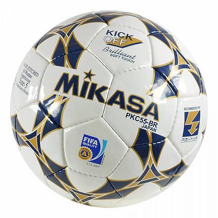 Мяч футбольный Mikasa FIFA Approved PKC55BR2 размер 5, фото 2