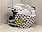 Мотошлем + ПОДАРКИ Очки + Перчатки + Балаклава. Для Квадроцикла, Мотокросса, фото 4