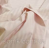 Сатин страйп полоса 1*1 Рожева пудра 220 см