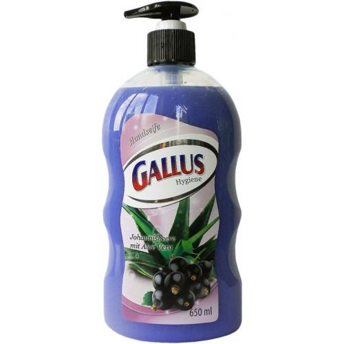 Жидкое мыло для рук Gallus с ароматом черной смородины, 650 мл