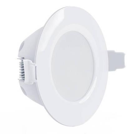 Светодиодный светильник Maxus SDL 105-01 8W 3000K кругл. белый IP 44 Код.58508, фото 2