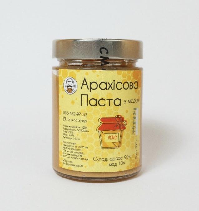 Арахисовая паста с медом 300г.