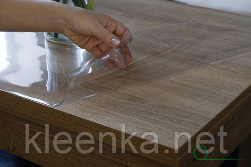 Прозрачное покрытие, м'яке скло для захисту дерев'яних та скляних поверхонь, фото 2