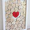 Картина с сердцами для пожеланий, размер 30*40 см, на 30-40 сердец с вашими именами