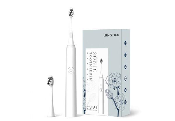 Электрическая звуковая зубная щетка Seago Sonic SG972-D White 5 режимов работы