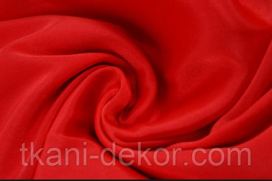 Сатин (хлопковая ткань) однотонный красный (60*160)