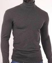 Гольф мужской с начесом стойка размер 46,50,серый 50
