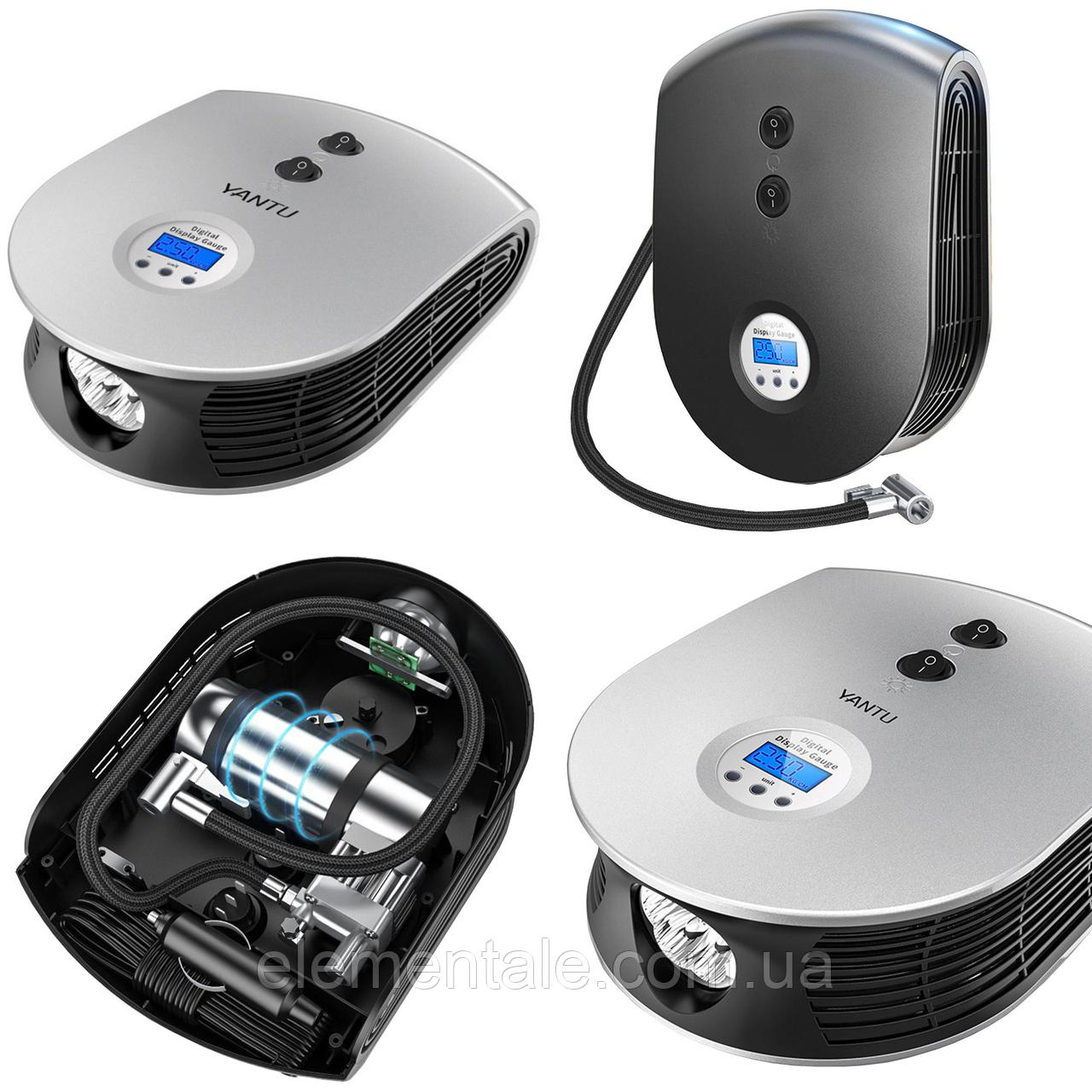 Автомобильный компрессор YANTU E26 Black с LED экраном и фонариком
