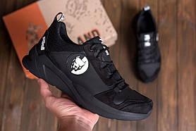Чоловічі шкіряні кросівки чорні Pitbull