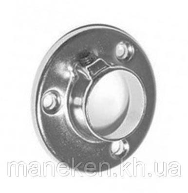 Фланец D 25mm Хром для перпендикулярного крепления к плоскости высокий, фото 2
