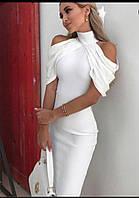 Нарядное платье драпировано фатином на плечах