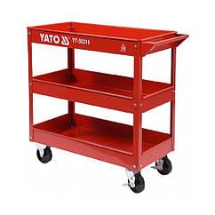 Тележка Подкатная Для Мастерской Трехярусная(795 x790 x370 мм)YATO YT-55210