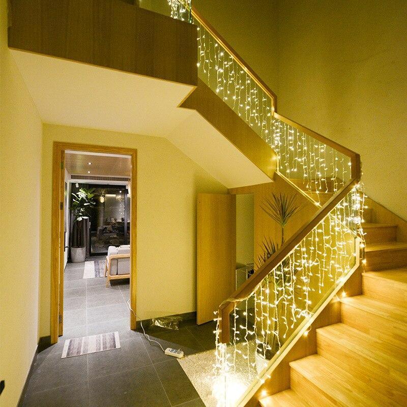 Гірлянда Бахрома 12x0,6 метра 360 LED, 60 ниток, 220В, IP55, (вулиця і будинок) Сos-1793-65