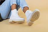 Черевики жіночі шкіряні білого кольору демі, фото 5