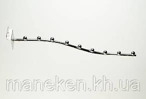 Флейта (кронштейн) с креплением на эконом-панель 9(E-15)L Хром, фото 3