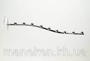 Флейта (кронштейн) з кріпленням на економ-панель 9(E-15)L Хром, фото 3