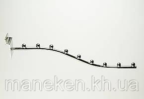 Флейта (кронштейн) с креплением на эконом-панель 9(E-15)L Хром, фото 2