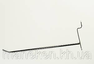 Крючок с креплением на эконом-панель  L10Ф4,5(С-47) Хром, фото 2