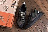Чоловічі шкіряні кросівки Pitbull оливково-чорні, фото 4