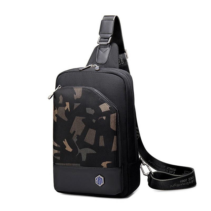 Рюкзак с одной лямкой Arctic Hunter XB00117, с двумя отделениями, из водоотталкивающей ткани, 5л