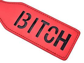 Шлепалка для БДСМ игр - BITCH, красная