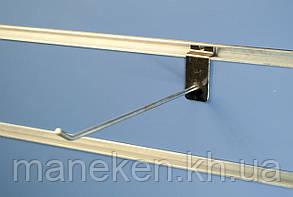 Крючок с креплением на эконом-панель L15Ф4,5(С-48) Хром, фото 2
