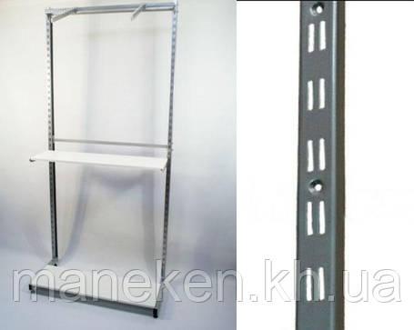 Рейка-опора h1.48 двурядная, островная металлик, фото 2