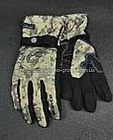 Мото перчатки SCOYCO камуфляж теплые, осень-зима, фото 6