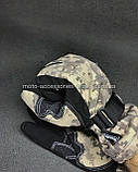Мото перчатки SCOYCO камуфляж теплые, осень-зима, фото 4