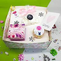 Подарочный набор «Для женского счастья» новогодний. Коробка подарок Новогодняя для девушки