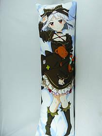 Подушка Дакимакура 150 х 50 Акари обнимашка аниме ростовая двухсторонняя