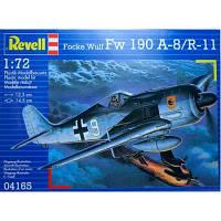 Сборная модель Revell Истребитель-бомбардировщик Focke Wulf Fw 190 A-8/R11 1:72 (4165)