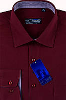 Рубашка мужская бордо