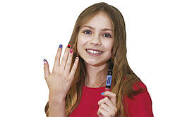 Детский лак-карандаш для ногтей Malinos Creative Nails на водной основе (2 цвета Голубой + Розовый)