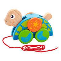 Игрушка-каталка для малышей от 18 месяцев Деревянная каталка Viga Toys Черепаха (50080)