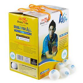 Набір кульок для настільного тенісу Double Fish (100 шт) білий DF100