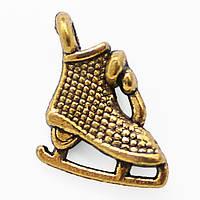 Кулон Коньки, Металл, Цвет: Античное Золото, Размер: 10.5х10х3.5мм, Отверстие 1.5мм, (УТ000006620)