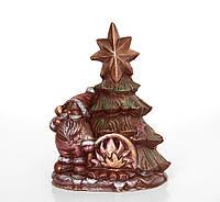 Подарки девушке на Новый год. Шоколадный Дед Мороз с елкой, фото 1