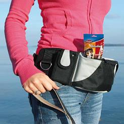 Trixie Сумка на пояс Baggy Belt, ремень: 62–125 см, черный/серый