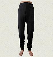 Спортивные мужские штаны трикотажные с начесом с манжетом черные (Белорусский трикотаж)