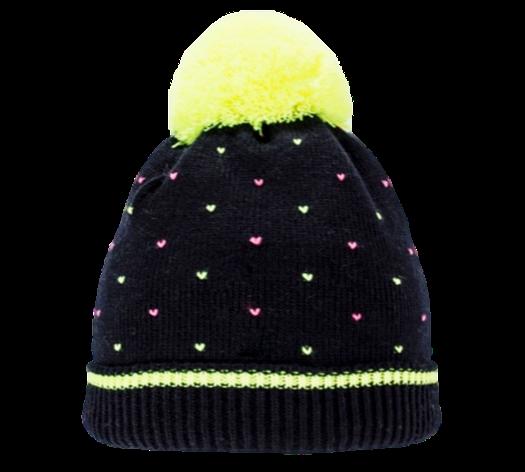 Стильная оригинальная  вязаная женская шапочка с ярким бумбоном, фото 2