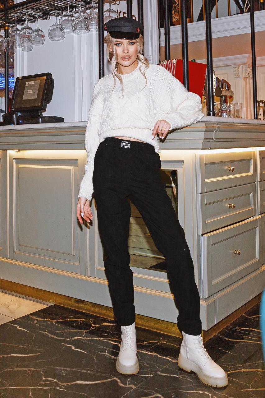 Женские вельветовые брюки Черный
