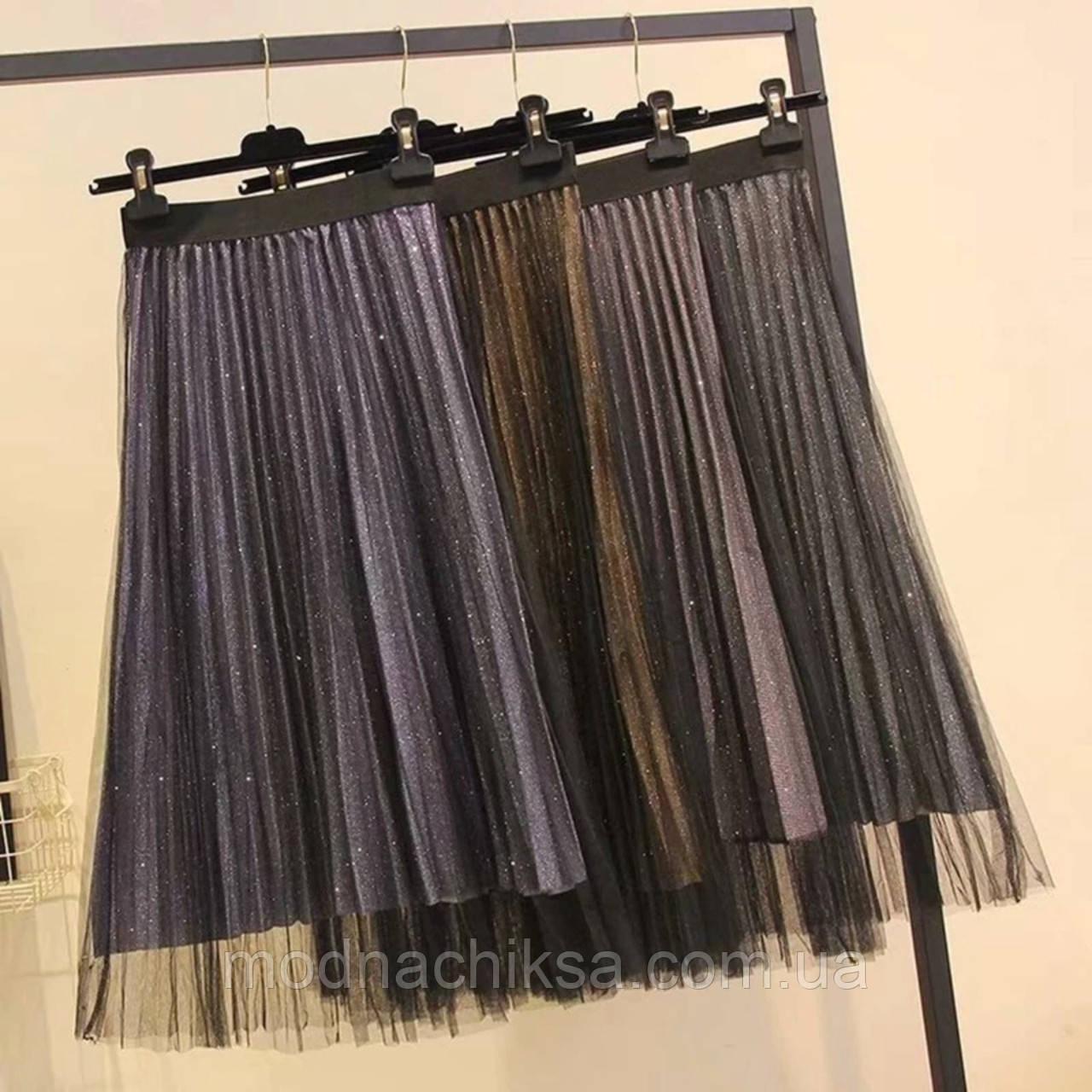 Нарядная юбка комбинирована фатином