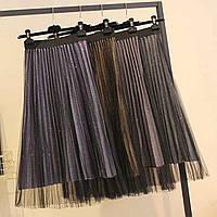 Нарядная юбка комбинирована фатином, фото 1